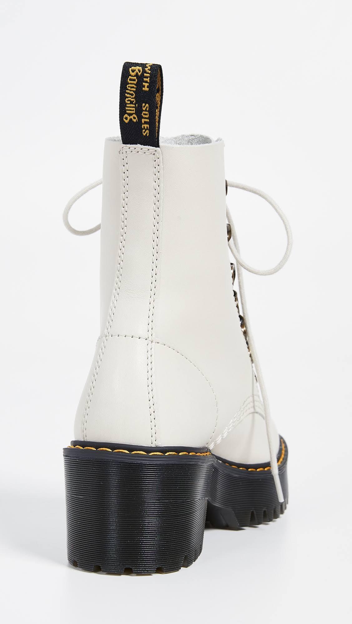 Leona DrMartens 7 Hook 10 Bone Boots qSUGzMpV