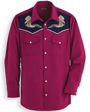Hombre Mediodía 2xl Bordada Camisa Rojo Para De Tamaño wTSWWCq