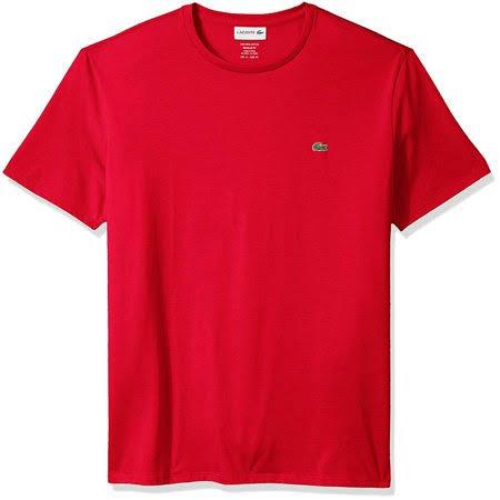 Xs Lacoste Herren T shirt Pima Standard Rot Kurzarm Crewneck q8rwCPnqT