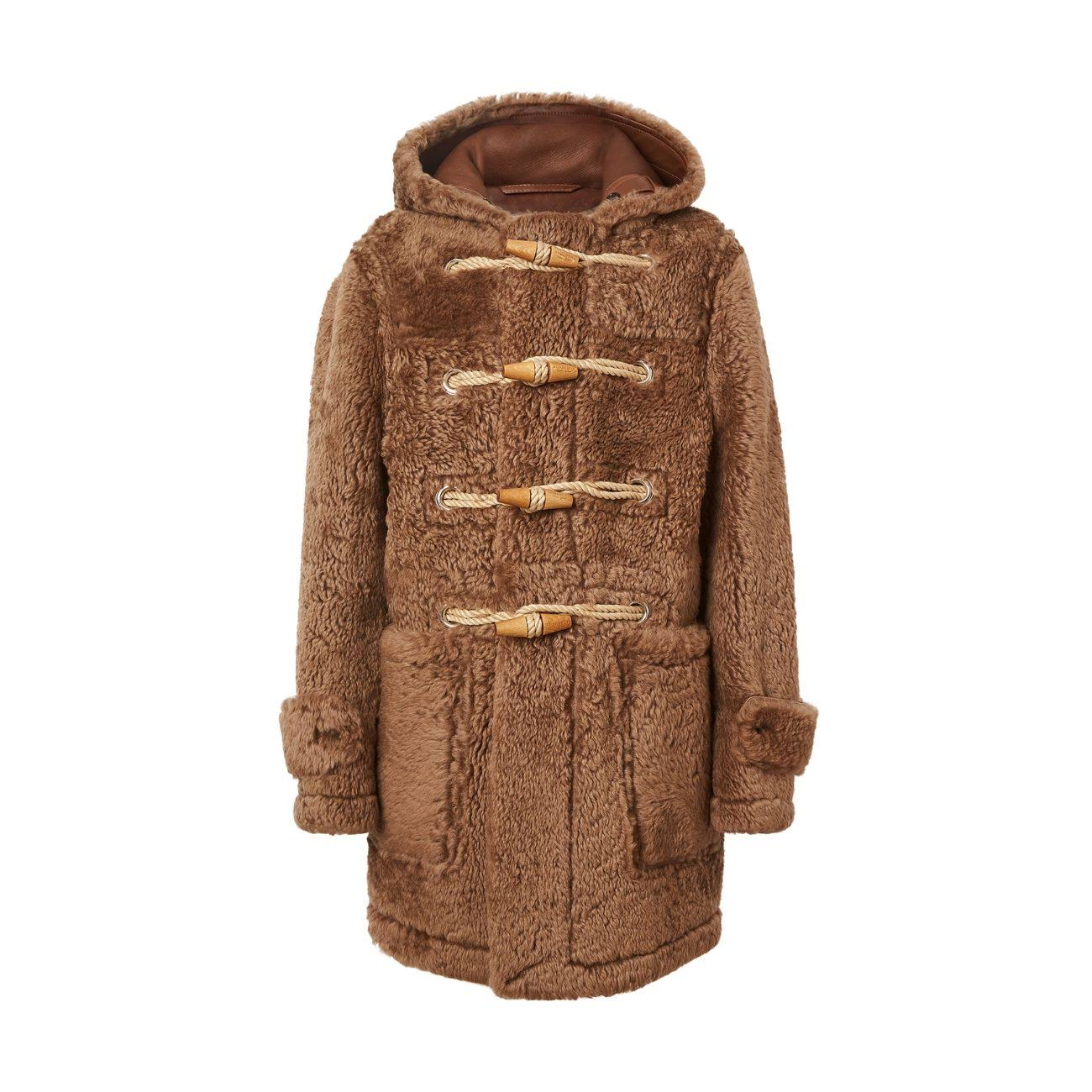 Fur Toggle Burberry Coat Hombre Teddy Shearling Para Horsham Taupe vxqAqZEp