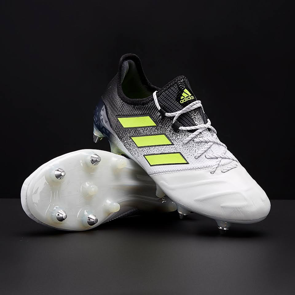 Adidas Ace 17.1 SG Leather White Solar Yellow Core Black