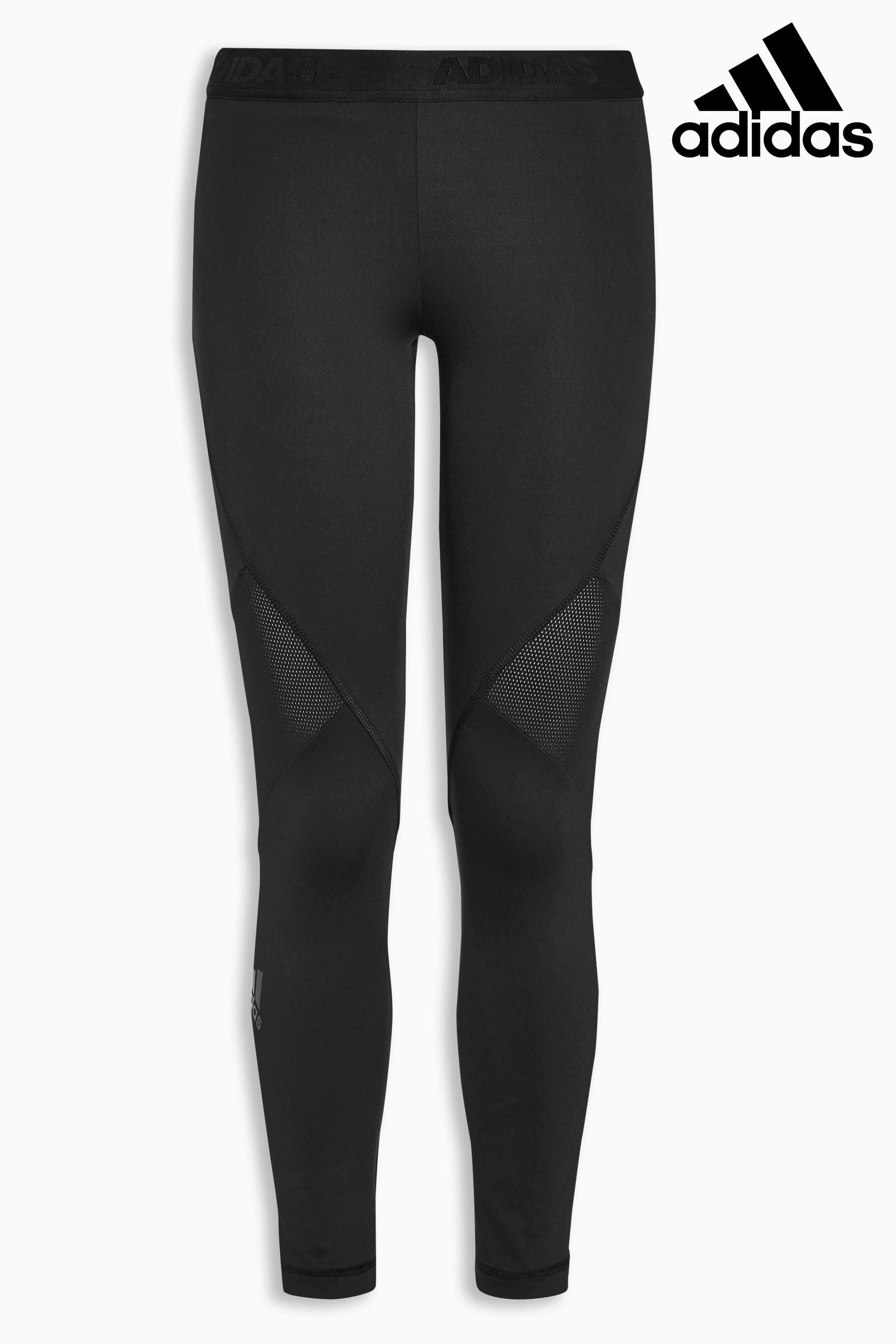 12 Alphaskin Schwarz Adidas Ladies Tech Tights Größe 14 wZxRqg6an