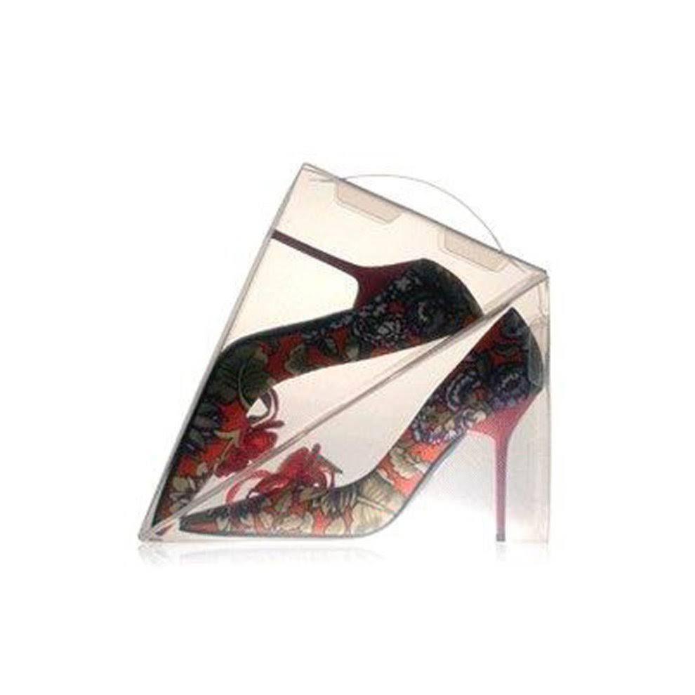 8 x Ladies Shoe Box Storage Display Shoe Organiser Dividers Transparent Plastic