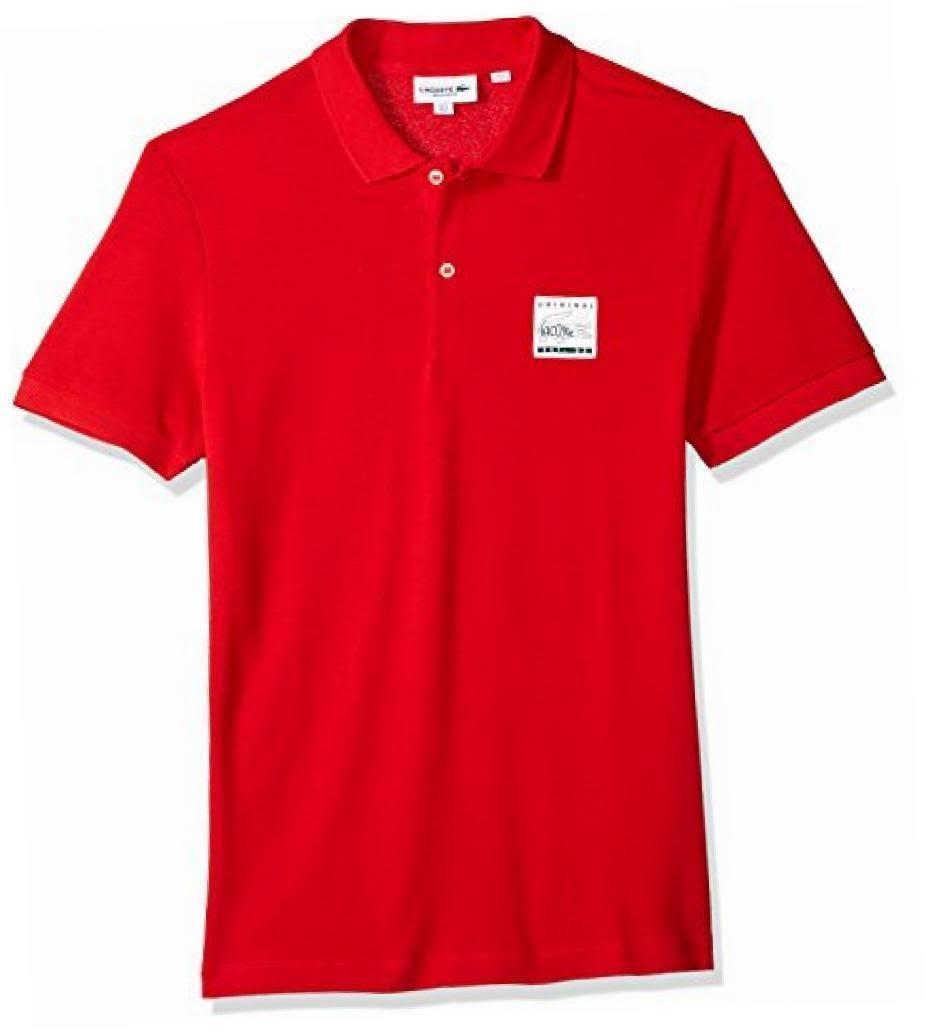 Polo Hombre Lacoste Parche De Regular Rojo Piqué Ajuste Para H0Hrqz6w