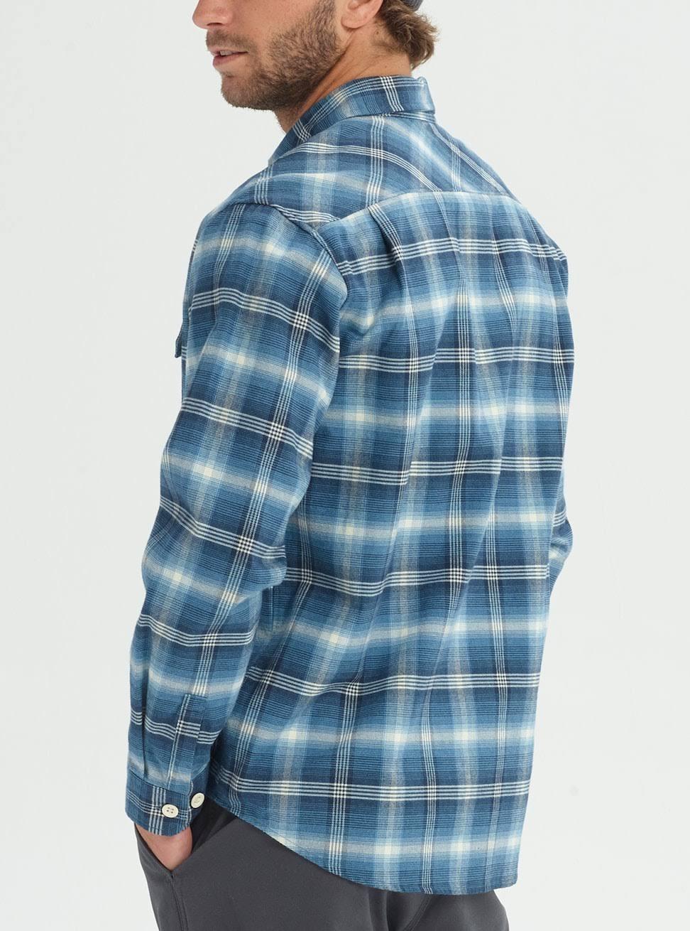 Flannel Shirt Burton Mood L Pne Para Plaid Indigo Hombre Brighton 144E6rq5Ww