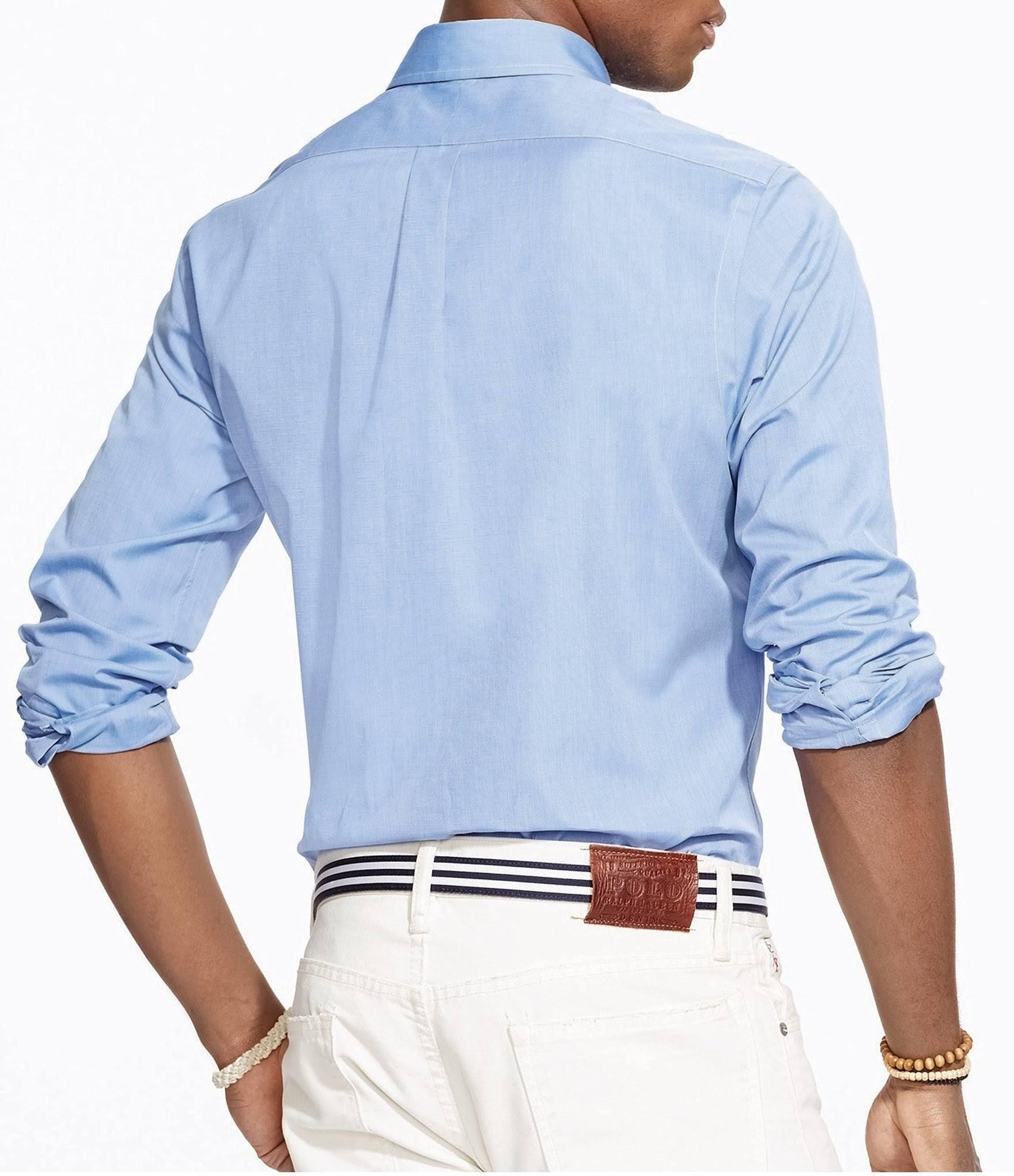 Lauren Azul En L Ralph Ajuste Camisa Clásico Talla De Popelina qxSTzvX