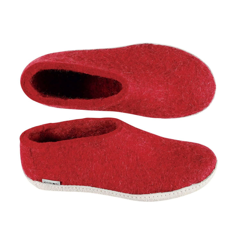 Unisex Slipper37 Natural Wool A EuRedRed Shoe Glerups Model Nk0nwOP8X