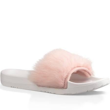 Pink Mujer De Sandalias Baby Piel Con Tobogán Ugg 5 Talla Royale Oveja Para BqBv0xwr