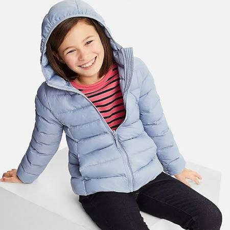 6 Blau 120 Warm Light Girl's Blau Parka 5 Alter Gepolsterter Uniqlo 8RAx6p