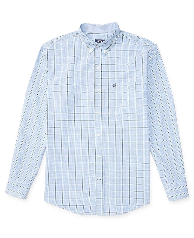 Izquierda Alto Talla A Con Camisa Cuadros azul Revial Grande Larga Botones Hombres De Manga Y Alta dnw1W1qv6