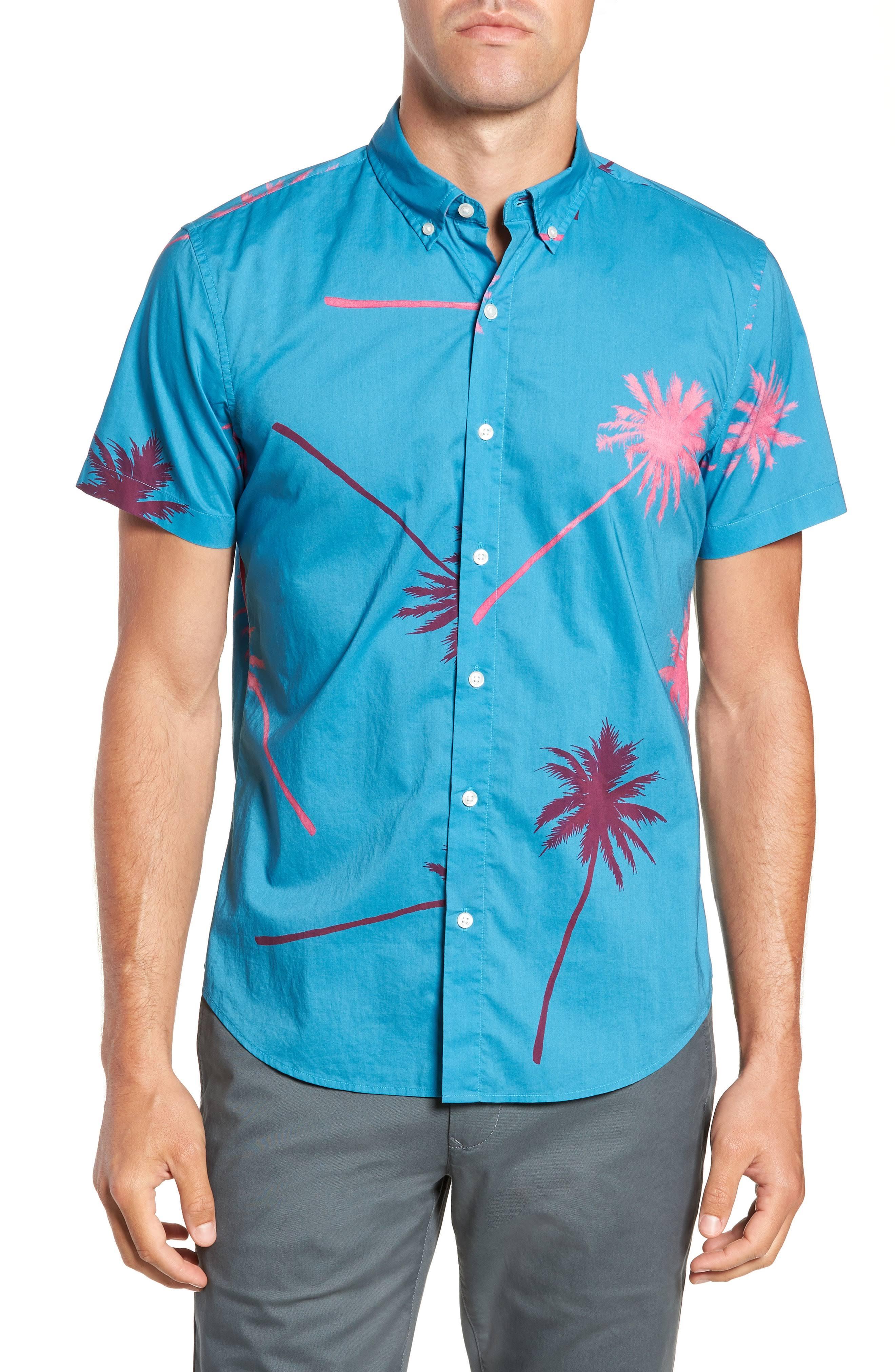 Surf Blue Corta Mxreg Casual Camisa Riviera Bonobos Paradise Slim Para Manga De Hombre xap61